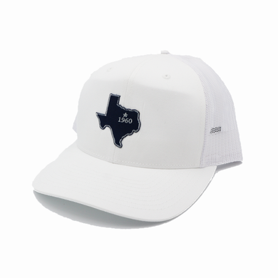Dallas / White and White / Curved Bill