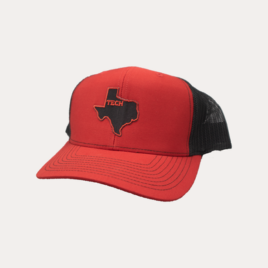 Lubbock / State of Texas / Red - Black / Curved Bill
