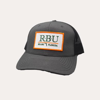 Miami / R-B-U / Charcoal - Black / Curved Bill