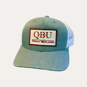Norman / Q-B-U / Heather Grey - White / Curved Bill
