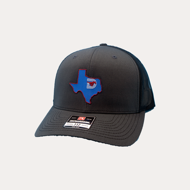 State of Texas / Charcoal - Black / Curved Bill