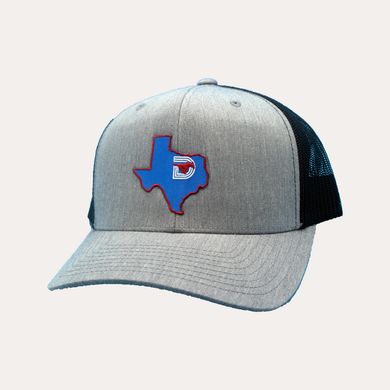 State of Texas / Heather Grey - Black / Curved Bill