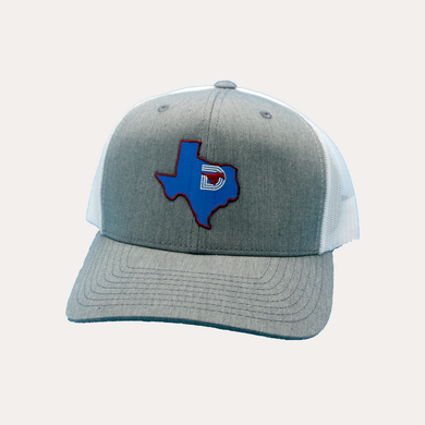 State of Texas / Heather Grey - White / Curved Bill