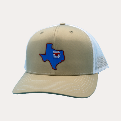 State of Texas / Tan - White / Curved Bill