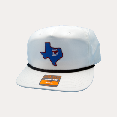 State of Texas / White Rope Hat / Flatbill Bill