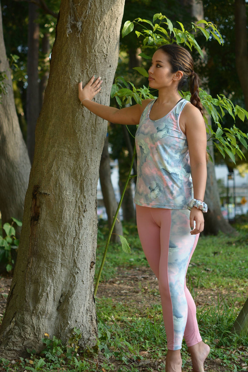 sakura canvas leggings