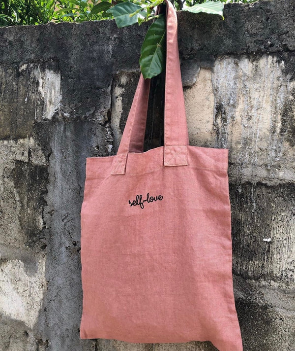 dusty pink ecobag