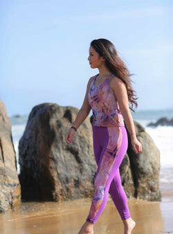 sunset purple leggings