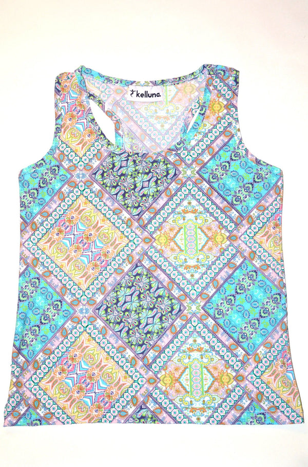 ethnic blue tops