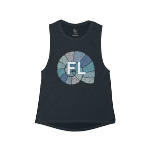 Women's Ocean Shell FL Heart Tank - Eola Apparel