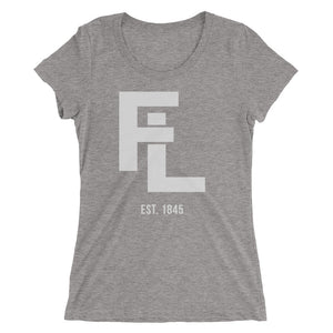 Ladies' Gray FL Stack Tee - Eola Apparel