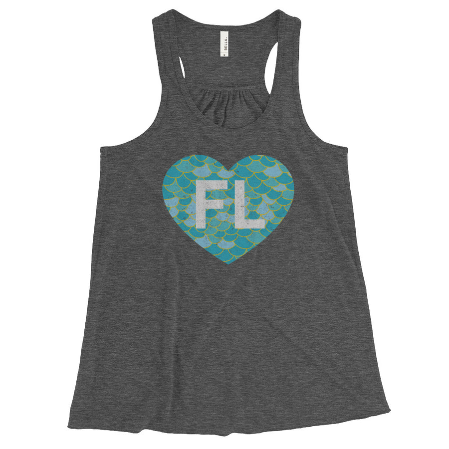 Ladies' Flowy Love FL Mermaid Tank - Eola Apparel