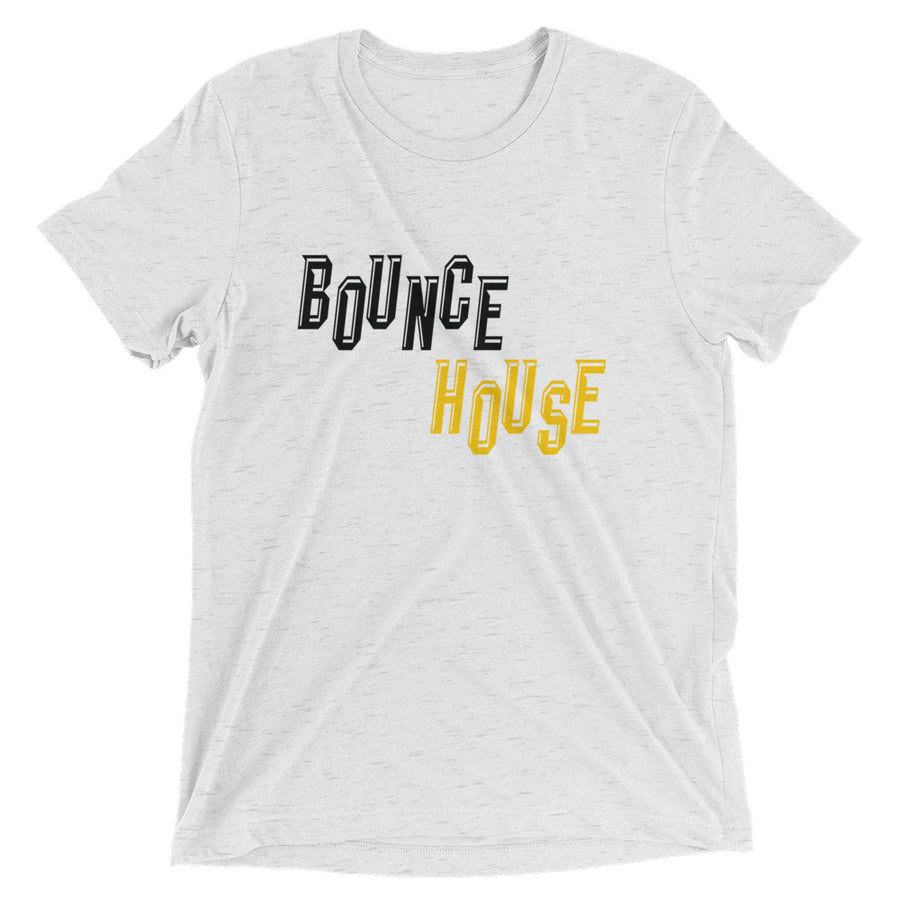 Unisex Black and Gold Bounce House Tee - Eola Apparel
