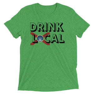 Unisex Drink Local Vintage Flag Tee - Eola Apparel