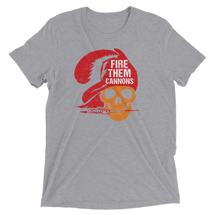 Unisex Fire Them Cannons Skull Tee - Eola Apparel