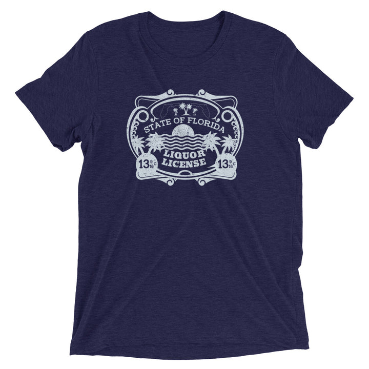 Unisex Vintage Liquor License Tee - Eola Apparel