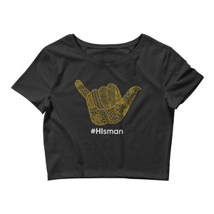 Ladies #HIsman Crop Tee - Eola Apparel