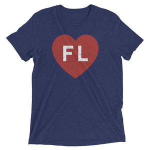 Unisex Love Florida Red Heart Tee - Eola Apparel