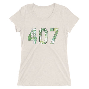 Ladies' 407 Floral Tee - Eola Apparel