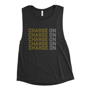 Ladies' Black Charge On Flowy Tank - Eola Apparel