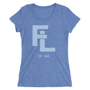 Ladies' Blue FL Stack Tee - Eola Apparel