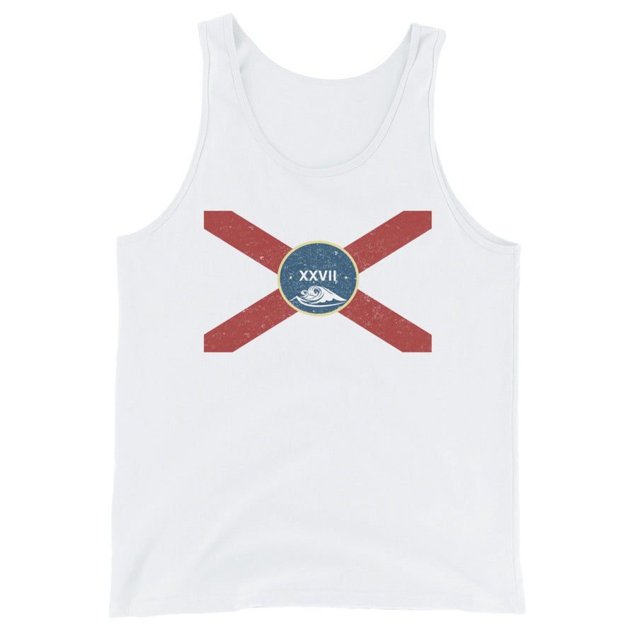 Unisex  Vintage Florida Flag Tank Top - Eola Apparel