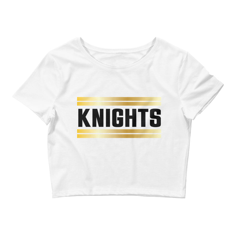 Women's Shiny Knights Crop Tee - Eola Apparel