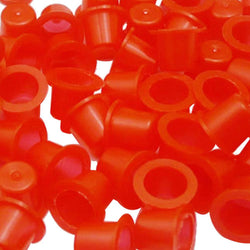 ITATOO 300pcs Red Mixed Ink Cups for Tattooing Disposable Pigment Cups #9 #13 #16 - wormholetattoo