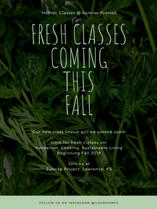 Fresh Classes For Fall