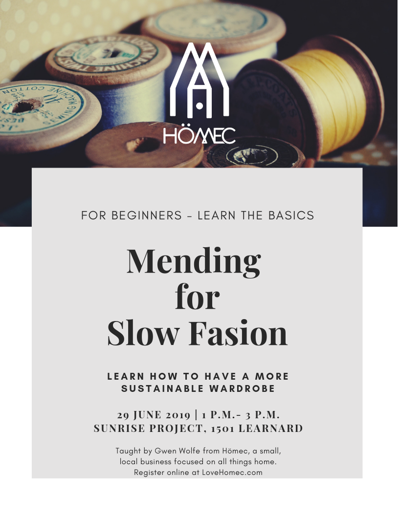 Mending For Slow Fashion