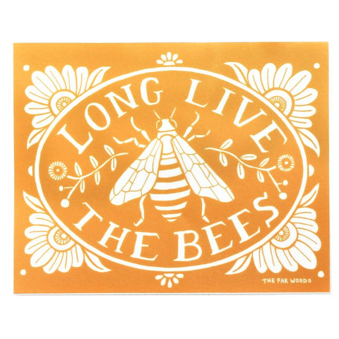 Long Live The Bees Sticker Art