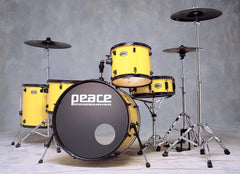 Demolition Yellow Drum Set by Peace