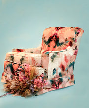 Load image into Gallery viewer, Whitney Winkler Art: Netherland Velvet Sleighback Armchair