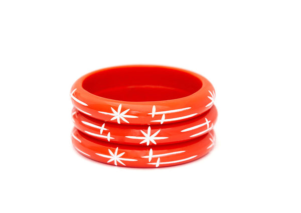 Midi Tangerine Starlight Bangle