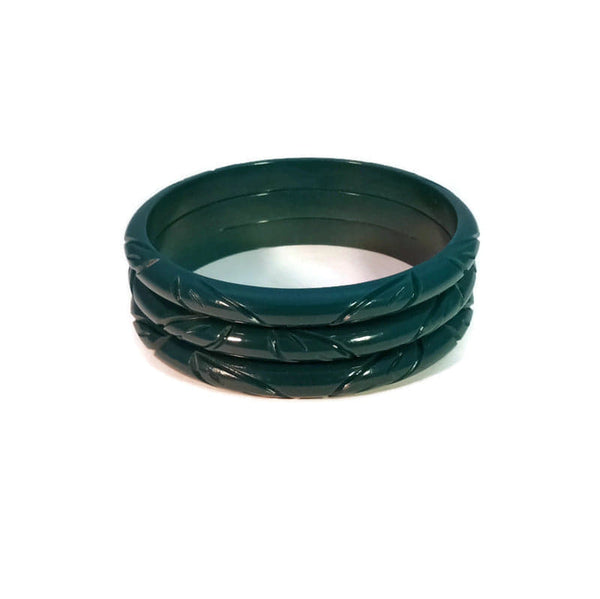 Narrow Teal Bangle