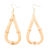 Teardrop Tiki Bamboo Earrings