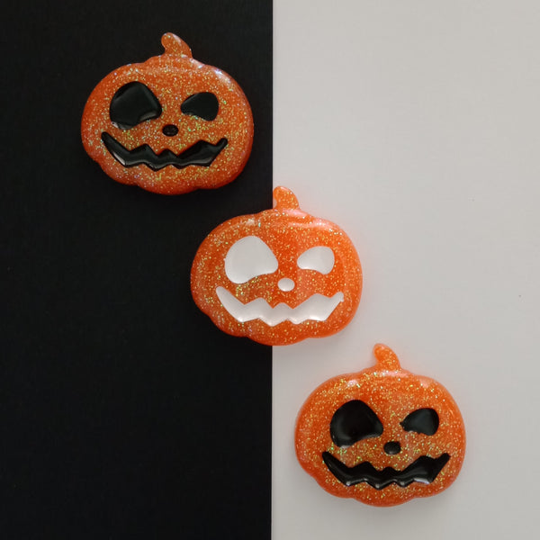 The Jack-O-Lantern Brooch - White Inlay