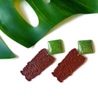 Lime TIKI Drop Earrings