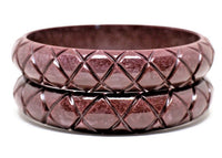 Midi Pearly Brown Carve Bangle