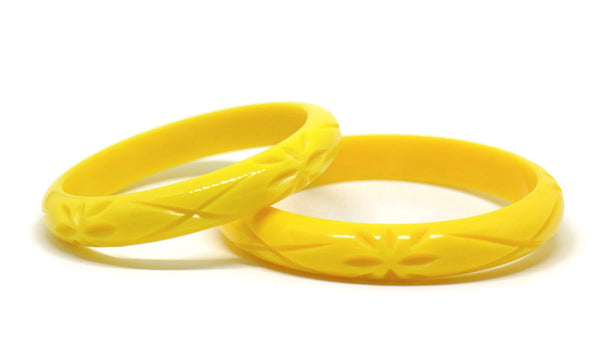 Midi Yellow Springtime Bloom Bangle