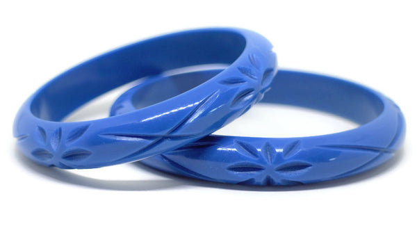 Midi Blue Springtime Bloom Bangle