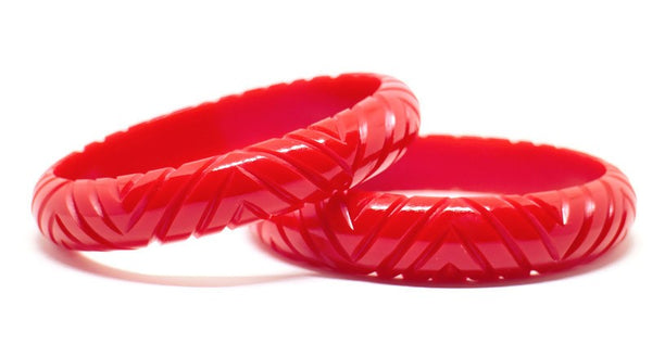 Midi Red Aztec Bangle