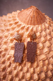 Bronze TIKI Drop Earrings