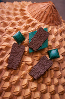 Emerald TIKI Drop Earrings
