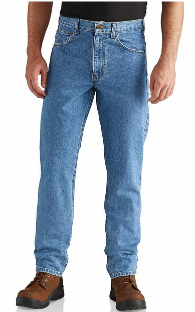 Straight/Traditional-Fit Tapered-Leg Jean