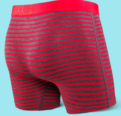 Vibe Boxer Brief Red Hiker Stripe