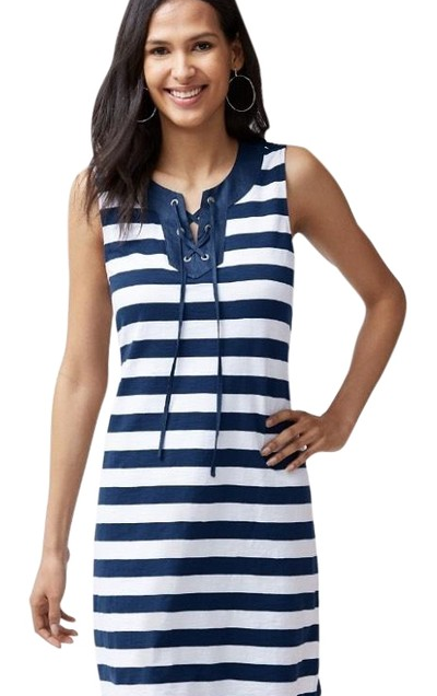 Navy & White Stripe Right Short Casual Dress