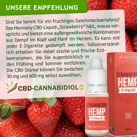 Harmony Strawberry (Erdbeer) C'B'D Liquid