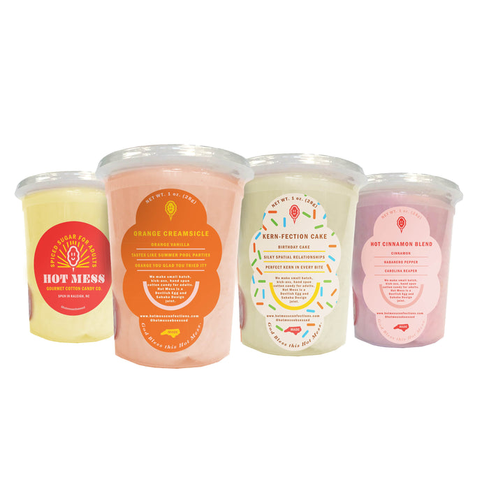 Variety Cotton Candy 4-Pack