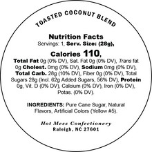 Load image into Gallery viewer, Toasted coconut cotton candy nutrition facts